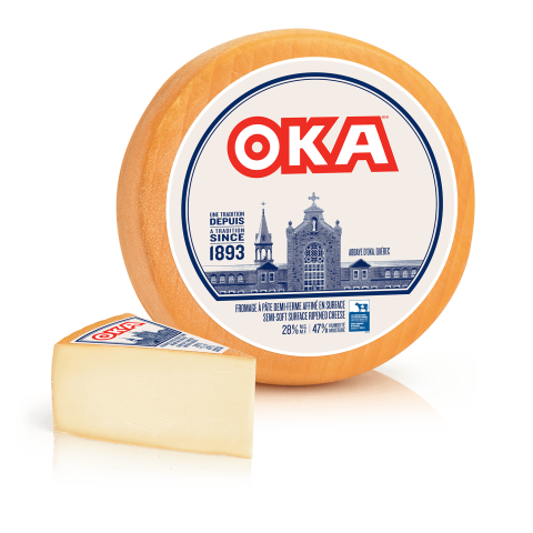 OKA Cheese Wheel and Wedge
