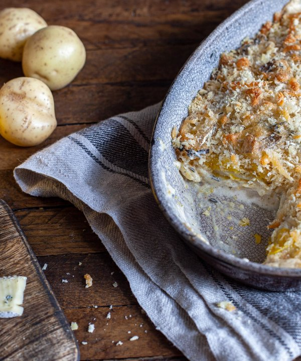 Gratin de courge Butternut au fromage Cambozola